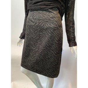Black and Grey Zebra Print Skirt